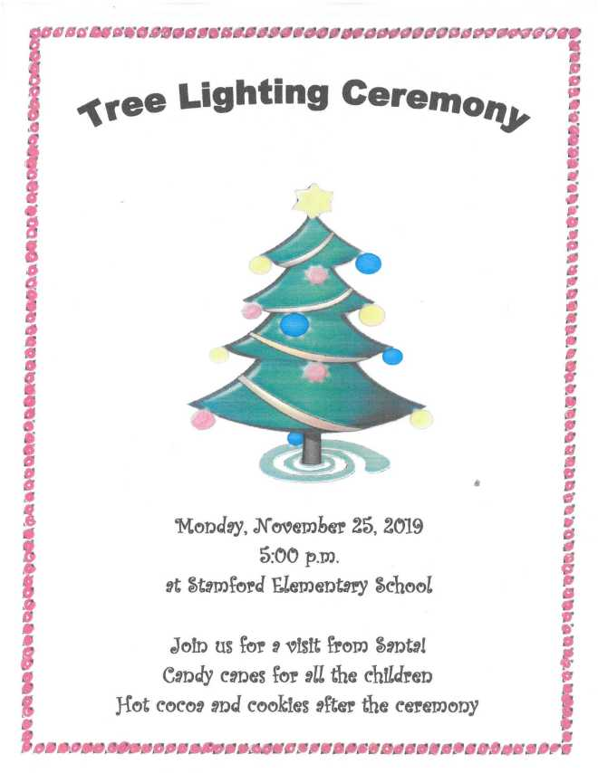 Tree Lighting Ceremony flyer 11-25-19