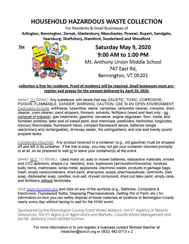 Hazardous Waste Day Flyer 5-9-20